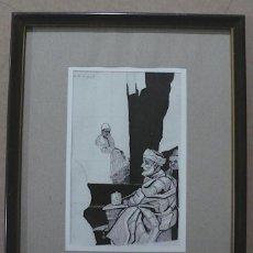 Arte: E. FREIXAS, DIBUJO EN TINTA CHINA, MOROS. Lote 148166394