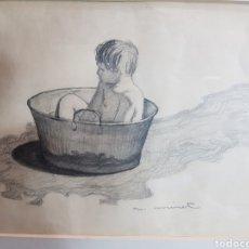 Arte: NIÑO EN BARREÑO POR ANTONI MIRET. Lote 148230981