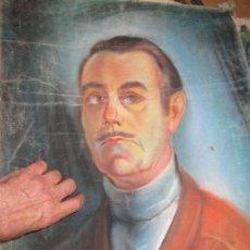 Arte: ANTIGUO DIBUJO ORIGINAL POSIBLE AUTORETRATO PINTOR ALICANTE TAMAÑO NATURAL AÑOS 40. Lote 148384610
