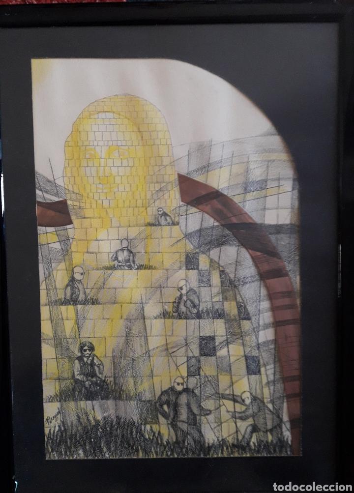 TÉCNICA MIXTA. FIRMADO ILEGIBLE. (Arte - Dibujos - Contemporáneos siglo XX)