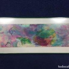 Arte: DIBUJO TÉCNICA MIXTA OBRA ORIGINAL DE BLAS GARCÍA PECES FONDO MARINO 1985. Lote 148767674