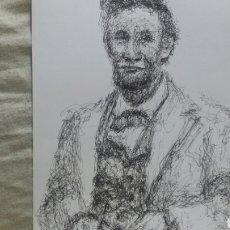 Arte: RETRATO ORIGINAL ABRAHAM LINCON. Lote 148777246