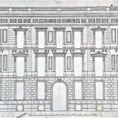 Arte: PROYECTO DE GRAN PALACIO EN BARCELONA. TINTA SOBRE PAPEL. JOAQUIN CARCERENY. ESPAÑA SIGLOXIX. Lote 148803858