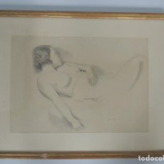 Arte: BONITO DIBUJO MUJER DESNUDA LAPIZ DOMINGO 1931. Lote 148914262