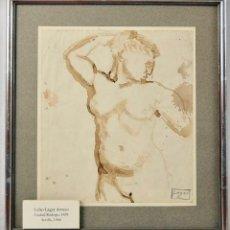 Arte: CELSO LAGAR ARROYO (1891-1966) DESNUDO- TINTA SOBRE PAPEL. Lote 149144718