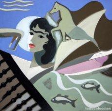 Arte: FEDERICO RIBAS MONTENEGRO (VIGO, 1890 - MADRID, 1952) GOUACHE SOBRE CARTON. COMPOSICION (SIN TITULO). Lote 149327638