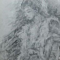 Arte: CHICA EN DESCANSO OBRA ORIGINAL. Lote 149337626