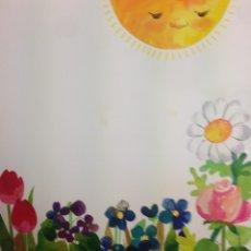 Arte: MARIA RIUS CAMPS, DIBUJO ORIGINAL PARA ILUSTRAR ENCICLOPEDIA INFANTIL, REPRODUCIDO!! 45X50CMS. Lote 78050741