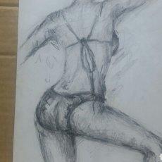 Arte: EN POSTURA OBRA ORIGINAL. Lote 149399737