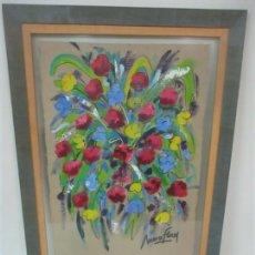 Arte: BONITO DIBUJO SOBRE PAPEL - FIRMA ANNA FLORES. Lote 149433982