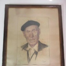 Arte: ANTIGUO DIBUJO - RETRATO - FIRMA ALANET - AÑO 1949. Lote 149437546
