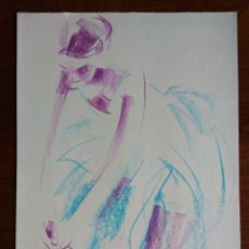 Arte: ANTONI VIVES FIERRO - BAILARINA - TECNICA MIXTA SOBRE PAPEL. Lote 149605530