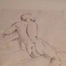 Arte: PRECIOSO DIBUJO DE E. C. RICART. MUJER DESNUDA RECOSTADA DE ESPALDAS. PARÍS 1920 FIRMADO.. Lote 133201106