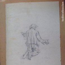 Arte: ANTONIO GARCÍA MENCIA. HOMBRE REZANDO.. Lote 149688306