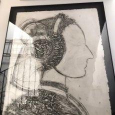 Arte: MANOLO VALDÉS, RETRATO. DIBUJO GRABADO.. Lote 149800189