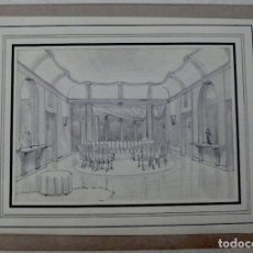 Arte: 3 DIBUJOS ORIGINALES A LAPICERO. Lote 149827378