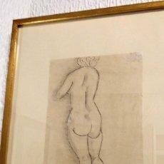 Arte: DIBUJO ORIGINAL DE ENRIC C. RICART. MUJER DESNUDA DE ESPALDAS 1920. FIRMADO. Lote 134162106