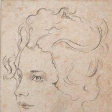 Arte: MARAVILLOSO RETRATO ORIGINAL A CARBONCILLO, ESCUELA FRANCESA, CIRCULO DE JEAN- ANTOINE WATTEAU. Lote 150514166