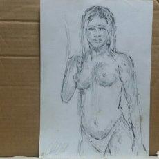 Arte: CHICA EN BIKINI OBRA ORIGINAL. Lote 150830910