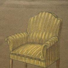 Arte: ORIGINAL A LÁPIZ MUEBLE ANTIGUO 16,2X19,8 CM. Lote 151055990
