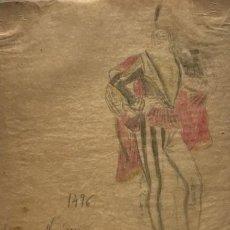 Arte: NOBLE DE VENISE. ORIGINAL A LÁPIZ SOBRE PAPEL CEBOLLA. FIGURINES DE TEATRO. 14X19 CM. Lote 151053014