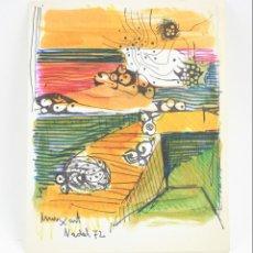 Arte: JAUME MUXART, ORIGINAL, 1972, FELICITACIÓN DE NAVIDAD. 22X28CM. Lote 151222446