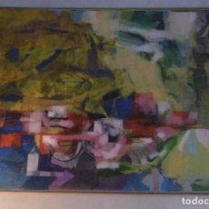Arte: ABSTRACTO. COLLAGE SOBRE CARTON ENCOLADO EN TABLA.. Lote 151312014