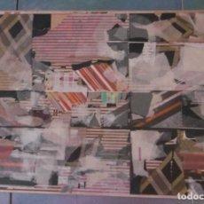 Arte: ABSTRACTO. COLLAGE SOBRE CARTON ENCOLADO EN TABLA.. Lote 151312402