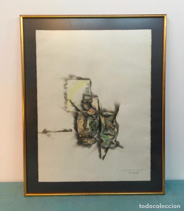 TECNICA MIXTA FIRMADO VICTOR VALLMITJANA (Arte - Dibujos - Contemporáneos siglo XX)