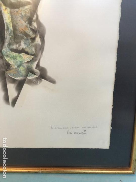 Arte: TECNICA MIXTA FIRMADO VICTOR VALLMITJANA - Foto 3 - 151374194