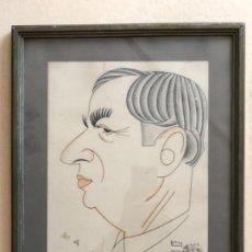 Arte: CARICATURA FIRMA BON ( ROMA BONET SITGES) EXPOSICIÓN INTERNACIONAL BARCELONA 1929. Lote 151376894