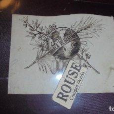 Arte: F.JORBA - DIBUJO ORIGINAL A TINTA S.XIX - MARCA REGISTRADA - 8,5X6,5 CM. . Lote 151377954