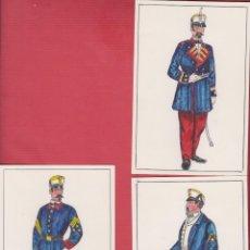 Arte: LOTE DE 3 DIBUJOS ORIGINALES DE FERNANDO GALLEGO -UNIFORMES MILITARES-ESPAÑA-ISLA DE CUBA DM497. Lote 23077615