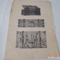 Arte: CONJUNTO DE LAMINAS MUEBLES ANTIGUOS, ARTE ANTIGUOS, ALEMANES. Lote 151408326