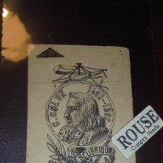 Arte: F. JORBA - DIBUJO ORIGINAL A TINTA S.XIX - COLON 1492-1892 DESCUBRIDOR DE AMERICA ALTA NOVEDAD . Lote 151424038