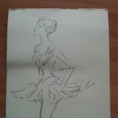 Arte: DIBUJO ORIGINAL DE PERE CLAPERA. Lote 151498110