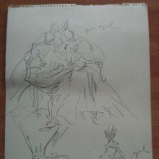 Arte: DIBUJO ORIGINAL DE PERE CLAPERA. Lote 151498186