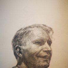 Arte: 14X12CM RETRATO MASCULINO LAPIZ SOBRE PAPEL, FIRMADO Y FECHADO, 1949. Lote 151635334
