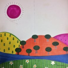 Arte: MARIA RIUS CAMPS, ILUSTRACION ORIGINAL 45X50CMS. Lote 151639114