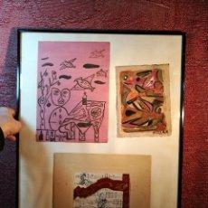 Arte: COLLAGE ENMARCADO CON 3 OBRAS DE DOMINGO MILLÁN--1978--ALCOY ALICANTE. Lote 151700006