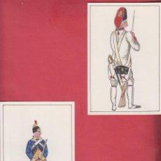 Arte: DIBUJOS ORIGINALES DE FERNANDO GALLEGO UNIFORMES MILITARES ESPAÑA INFANTERÍA DE LÍNEA DM534. Lote 151710494