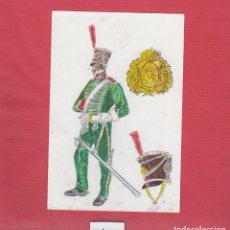 Arte: DIBUJOS ORIGINALES DE FERNANDO GALLEGO UNIFORMES MILITARES ESPAÑA- CABALLERÍA LIGERA DM536. Lote 151712118