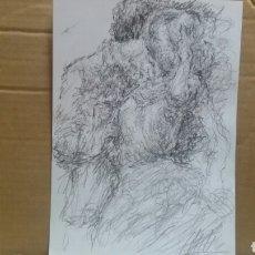 Arte: DIBUJO PAREJA EN PRIMAVERA ORIGINAL. Lote 151789585