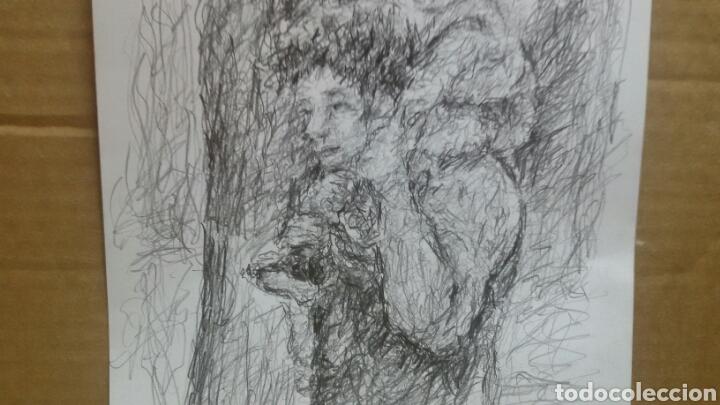 Arte: Dibujo paseo padre hijo original - Foto 4 - 151793032