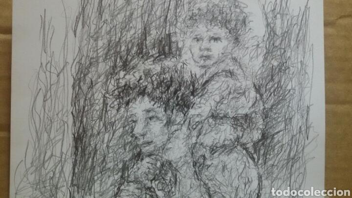 Arte: Dibujo paseo padre hijo original - Foto 5 - 151793032