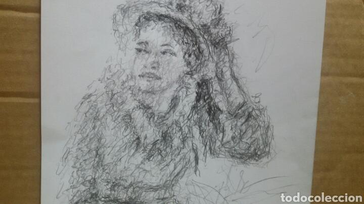 Arte: Dibujo Chica De Paseo original - Foto 2 - 151796164