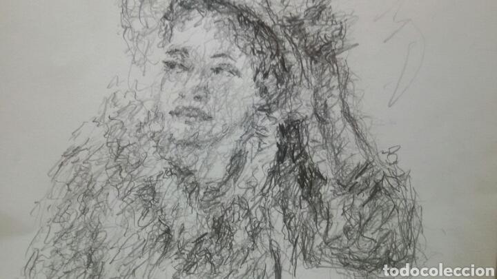 Arte: Dibujo Chica De Paseo original - Foto 3 - 151796164