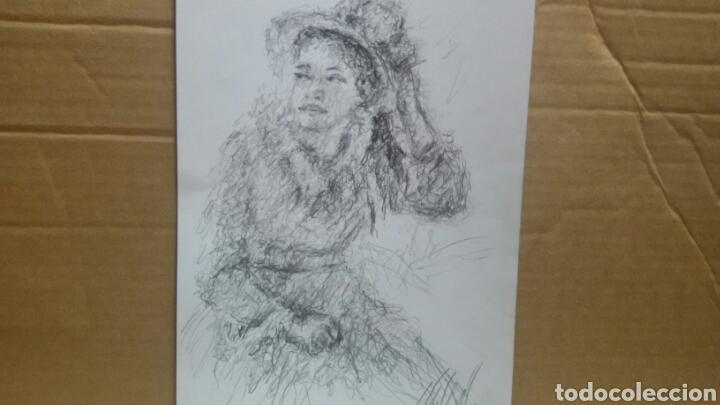 Arte: Dibujo Chica De Paseo original - Foto 5 - 151796164
