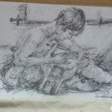 Arte: DIBUJO JUNTO A LA MÚSICA ORIGINAL. Lote 151797176