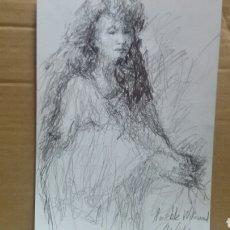 Arte: DIBUJO ORIGINAL AMIABLE WIKIWOND. Lote 151799528